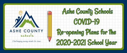 Ashe County Schools Re-opening Plans