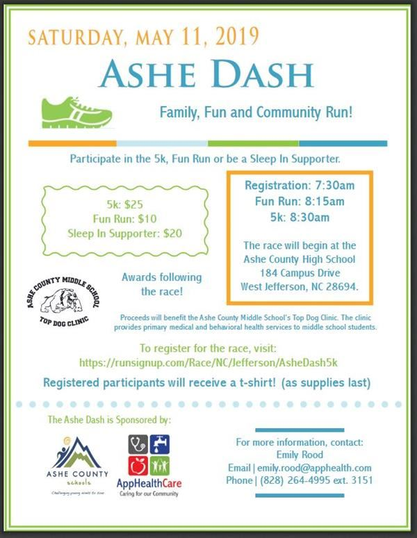 Ashe Dash 2019 Information