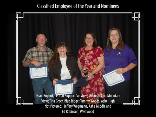 Classified Employee of the Year and Nominees