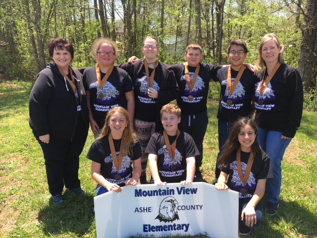 Mountain View Elementary Placed 3rd in the Battle of the Books Regional Competition on April 19, 20