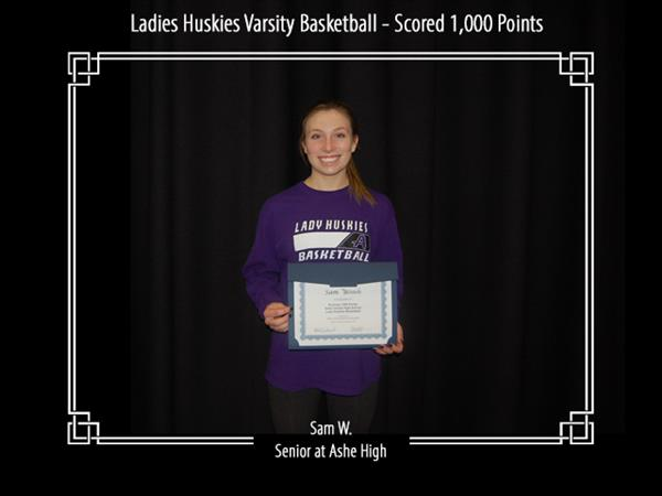 Ladies Huskies Varsity Basketball - Scored 1,000 Points