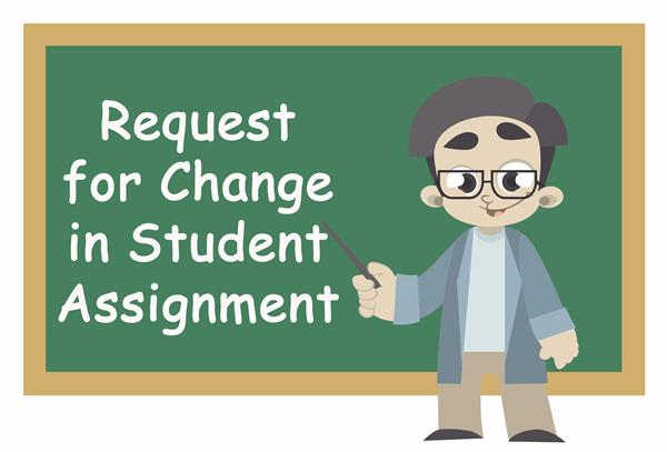 Request for Change in Student Assignment 2018/2019