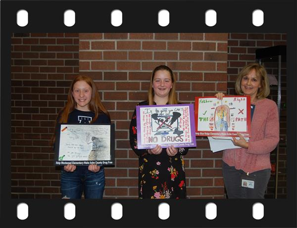 Recognition of the 6th Grade Winners in the Keep Ashe County Drug Free Poster Contest