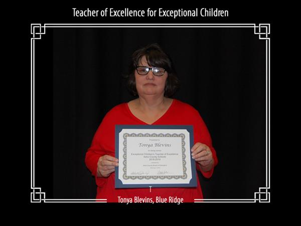 Teacher of Excellence for Exceptional Children