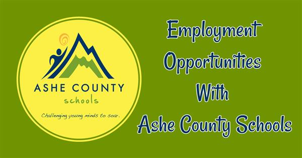Employment Opportunities in Ashe County Schools