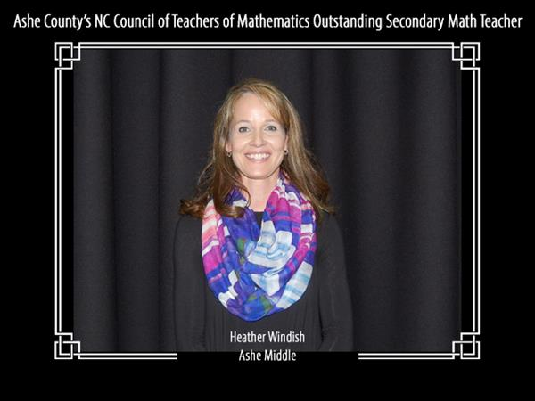 Ashe County's 2018 North Carolina Council of Teachers of Mathematics Outstanding Secondary Math Teacher
