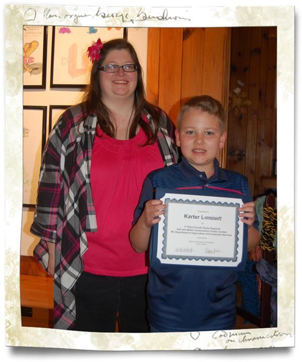 Recognition  of  Karter  L.,  4thgrade  student  at  Mountain  View