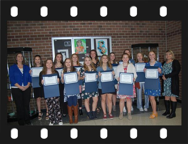 Recognition of the Ashe Middle 8th Grade Girls' Volleyball Team