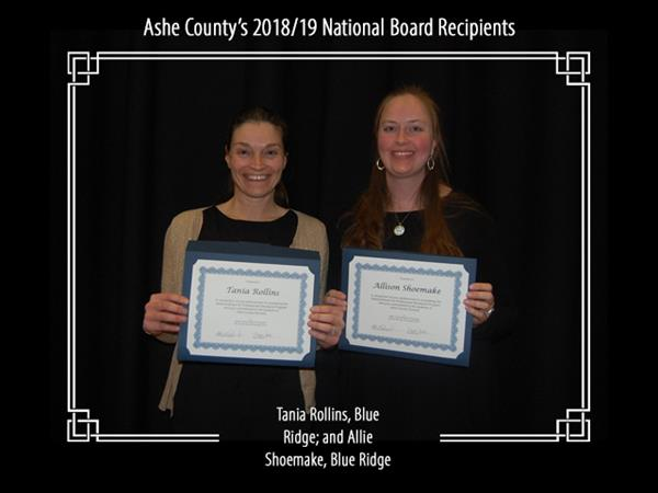 Ashe County's 2018/19 National Board Recipients