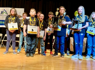 Group Picture of Spelling Bee Winners