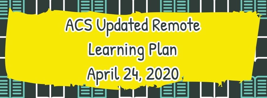 Updated Remote Learning Plan