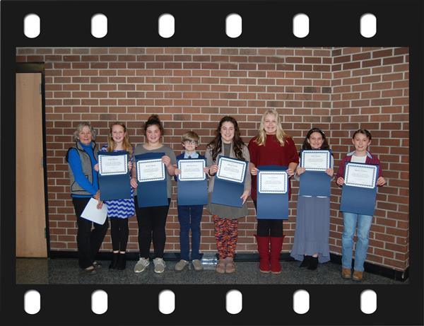 Recognition of the 2019 finalists in the Young Author's Contest